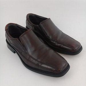 BASS Glenn Men's Leather Bicycle Toe Slip On Shoes